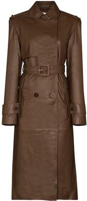 Remain Pirello leather trench coat