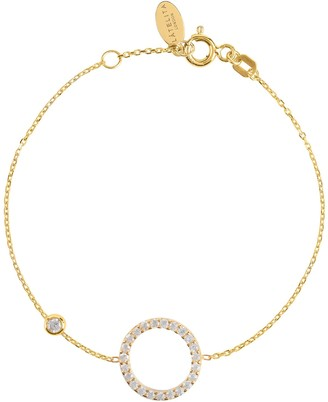 Latelita Halo Sparkling Circle Bracelet Gold