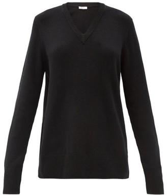 The Row Elaine V-neck Wool-blend Sweater - Black