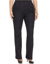 Charter Club Plus Size Flawless Straight-Leg Jeans, Rinse Wash