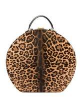 Saint Laurent Mica Large Leopard-Print Hat Box Bag