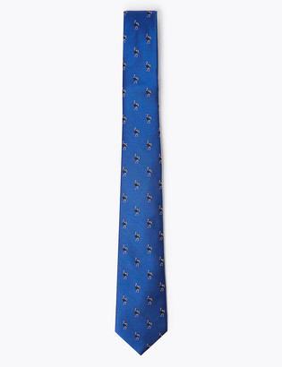 Marks and Spencer Woven Emu Pure Silk Tie