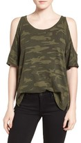 Sanctuary Women's Lou Camo Cold Shoulder Tee