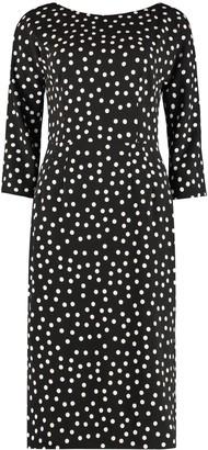 Dolce & Gabbana Polka-dot Crepe Sheath Dress