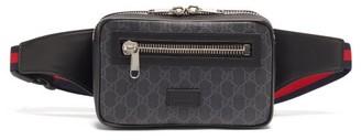 Gucci GG Supreme Leather Belt Bag - Black