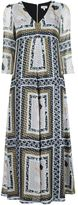 Suno metallic printed V-neck dress - women - Silk/Polyester - 0