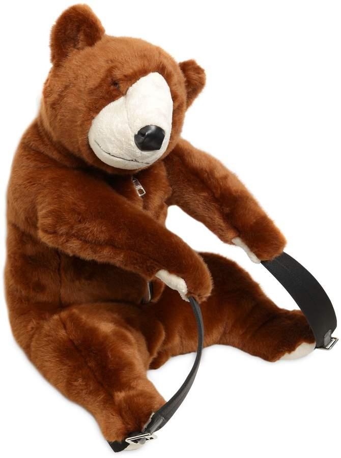 Dolce & Gabbana Plush Bear Shaped Backpack