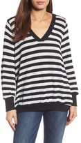 Caslon Women's Double V-Neck Relaxed Pullover