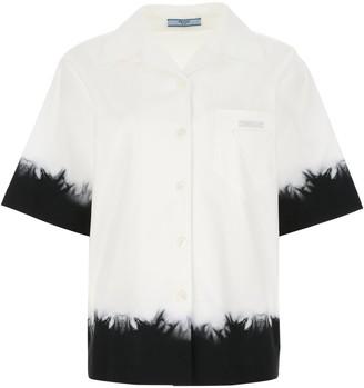 Prada Tie Dye Short-Sleeve Shirt