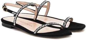 Stuart Weitzman Samarra embellished suede sandals