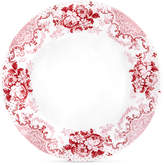 Q Squared Cambridge Rose in Crimson Dinner Plates, Set of 4