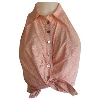 Tara Jarmon Pink Cotton Top for Women Vintage