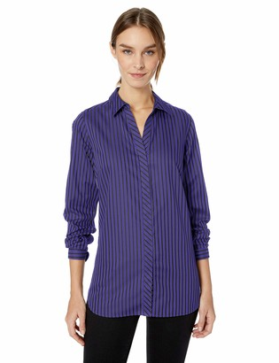 Foxcroft Women's Vera Non Iron Stripe Tunic