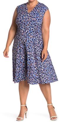 Vince Camuto Cap Sleeve Jersey Knit Dress
