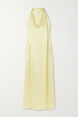 16Arlington Tana Satin Halterneck Midi Dress - Yellow