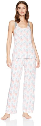 Mae Amazon Brand Women's Sleepwear Racer Back Pajama Set