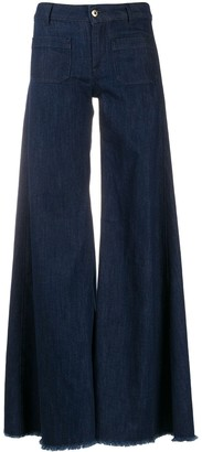 Dondup Flared Frayed Jeans