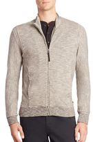 Billy Reid Knit Zip-Front Jacket