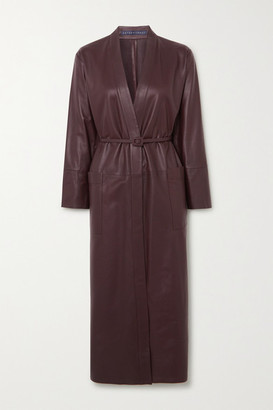 ZEYNEP ARCAY Belted Leather Midi Dress - Chocolate