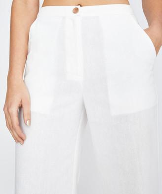 Don't Ask Amanda Rayne Cropped Pants White