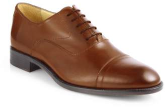 Saks Fifth Avenue Tyler Leather Cap Toe Oxfords