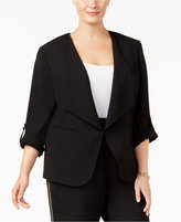 Nine West Plus Size Roll-Tab Blazer