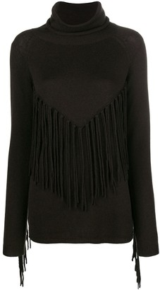 P.A.R.O.S.H. Fringed Turtle Neck Sweater