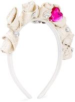 Patachou - floral headband - kids - Cotton/Lurex - One Size