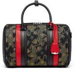 MCM Essential Boston Bag In Camo Jacquard