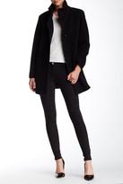 Cinzia Rocca Wool Blend Stand-Up Collar Coat
