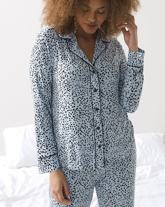 Soma Intimates Cool Nights Long Sleeve Notch Collar Pajama Top