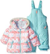 Carter's Girls' Infant 2 Pc Heavyweight Printed Snowsuit