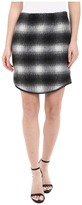 Karen Kane Plaid Curved Hem Skirt