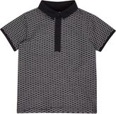River Island Mini boys navy jacquard polo