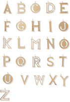 Chloé Alphabet Gold-plated Wallet Charm - N