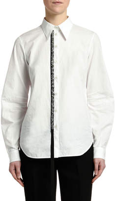 No.21 No. 21 Embellished Button-Down Top