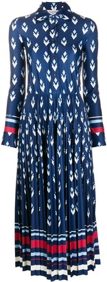 Valentino Logo Remake-print satin dress