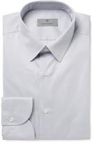 Canali Grey Slim-fit Striped Cotton Shirt - Gray
