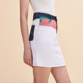 Maje Short multicoloured denim skirt