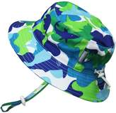 Twinklebelle Baby 50+ UPF Bucket Sun Hat with Chin Strap, Size Adjustable Aqua Dry