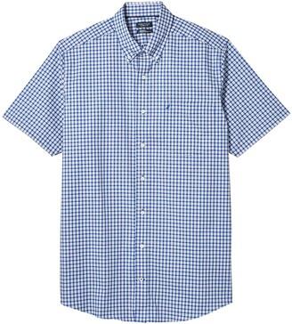 Nautica Tall Men's Big & Tall Short Sleeve Wrinkle-Resistant Plaid Button-Down Shirt
