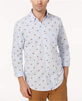 Club Room Men's Pinstriped Bear-Print Shirt, Created for Macy's