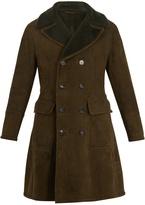Bottega Veneta Peak-lapel double-breasted shearling coat