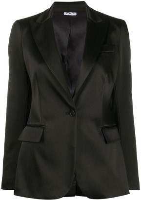 P.A.R.O.S.H. Single-Breasted Satin Blazer