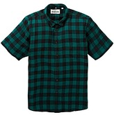 Jacamo Short Sleeve Buffalo Check Shirt Long