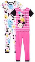 Disney 4-Pc. Tsum Tsum Pajama Set, Little Girls (4-6X) and Big Girls (7-16)