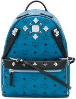 MCM logo print embellished backpack - women - Leather/metal - One Size