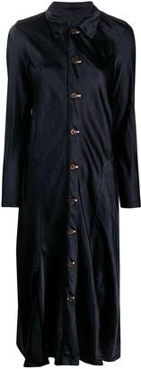 Comme des Garçons Comme des Garçons Button-Down Satin Dress
