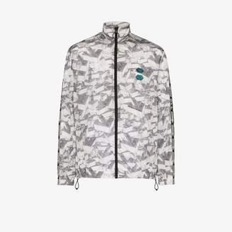 Off-White patterned zipped track jacket