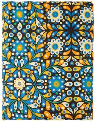 La DoubleJ Confetti 280cm X 180cm Linen Tablecloth - Green Print
